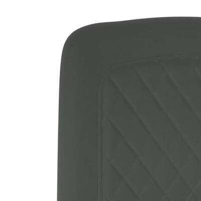 vidaXL Matstolar 2 st grå sammet