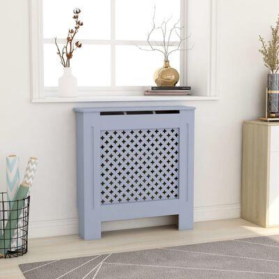 vidaXL Elementskydd MDF grå 78 cm
