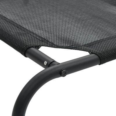 vidaXL Upphöjd hundbädd svart XL textilene