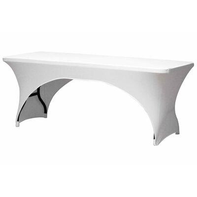Perel Bordsöverdrag för rektangulärt bord välvt vit FP400