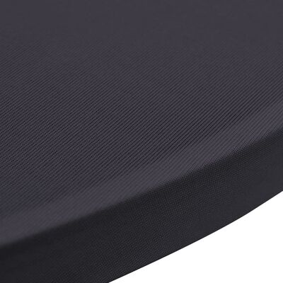 vidaXL Bordsöverdrag 4 st 80 cm stretch antracit
