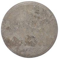 vidaXL Bordsskiva grå Ø40x2,5 cm marmor