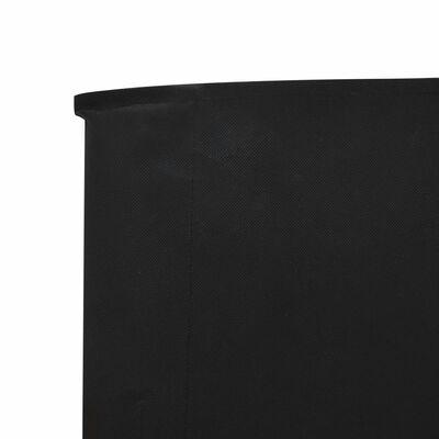 vidaXL Vindskydd 6 paneler tyg 800x80 cm svart