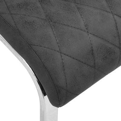 vidaXL Fribärande matstolar 4 st svart konstläder