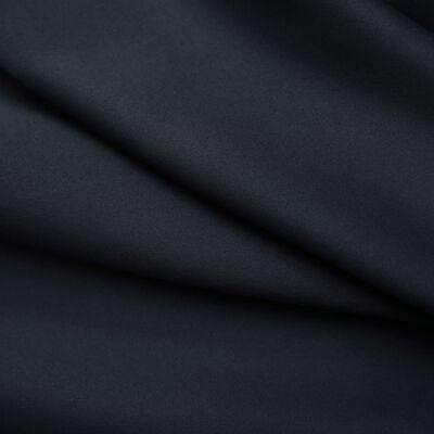 vidaXL Mörkläggningsgardiner med krokar 2 st svart 140x175 cm