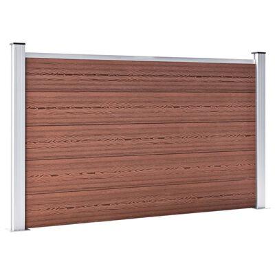 vidaXL Staketpanel WPC 526x106 cm brun