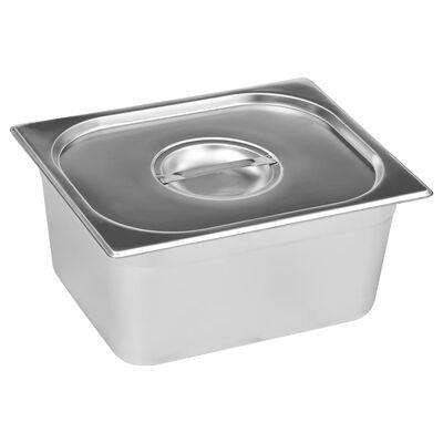 vidaXL Varmhållningskärl vattenbad rostfritt stål 1500 W GN 1/2