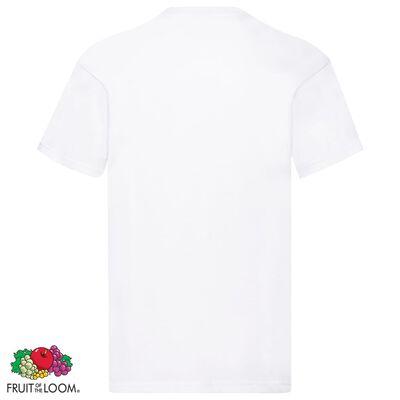 Fruit of the Loom Original T-shirt 5-pack vit stl. XXL bomull