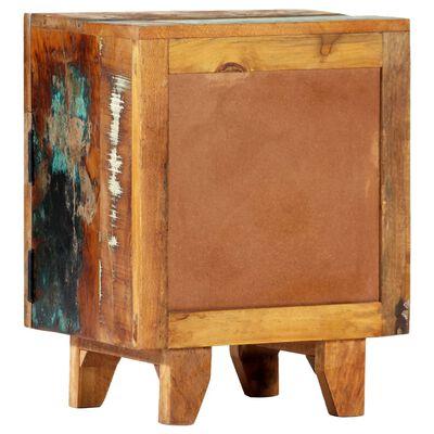 vidaXL Handsnidat sängbord 40x30x50 cm massivt återvunnet trä