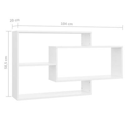 vidaXL Vägghyllor vit 104x20x58,5 cm spånskiva