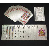 $100 Silver Plast PVC Poker Vattentäta Spelkort Kortlek
