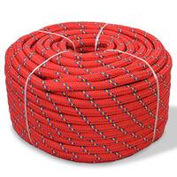 vidaXL Båtlina i polypropylen 18 mm 50 m röd