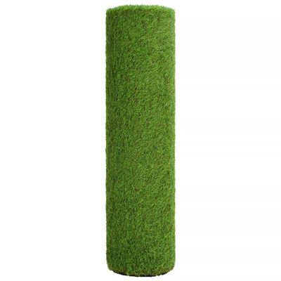 vidaXL Konstgräsmatta 1,5x10 m/40 mm grön,