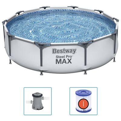 Bestway Pool med stålram Steel Pro MAX med tillbehör 305x76 cm,