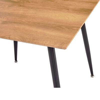 vidaXL Matbord ek och svart 80,5x80,5x73 cm MDF