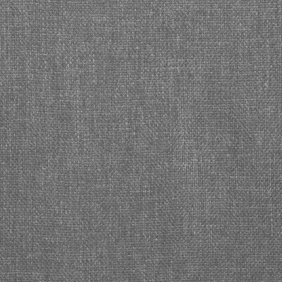 vidaXL Matstolar 2 st ljusgrå tyg