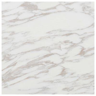 vidaXL Självhäftande PVC-golvplankor 5,11 m² vit marmor, WhiteMarble