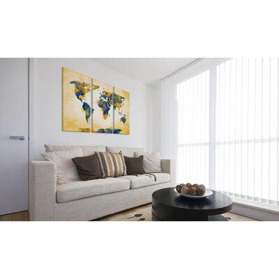 Tavla - Four Corners Of The World - Triptych - 120x80 Cm