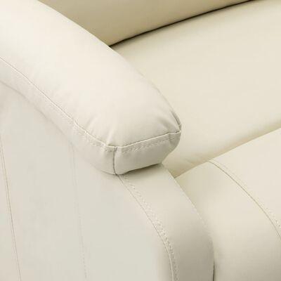 vidaXL Elektrisk reclinerfåtölj vit konstläder