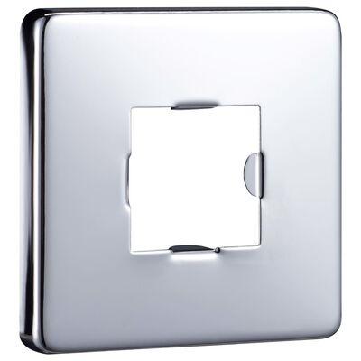 vidaXL Duscharm fyrkantig rostfritt stål 201 silver 30 cm