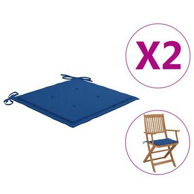 vidaXL Sittdynor för trädgården 2 st kungsblå 40x40x4 cm tyg