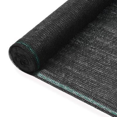 vidaXL Vindskydd för tennisplan HDPE 1,2x25 m svart
