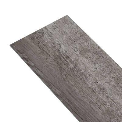 vidaXL Golvbrädor PVC 4,46 m² 3 mm randigt trä