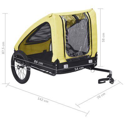 vidaXL Husdjursvagn gul och svart