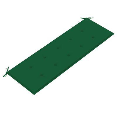 vidaXL Bänkdyna för trädgården 150x50x4 cm grön