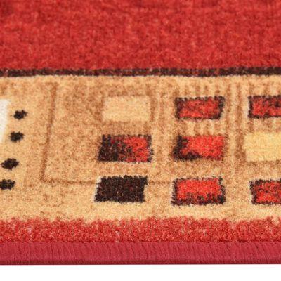 vidaXL Halkfri gångmatta röd 67x200 cm