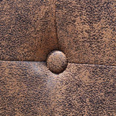 vidaXL Matstolar 2 st brun konstläder