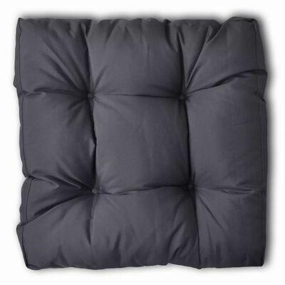 vidaXL Stoppad sittdyna 50 x 50 x 10 cm grå