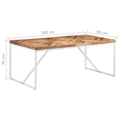 vidaXL Matbord 180x90x76 cm massivt akaciaträ och mangoträ