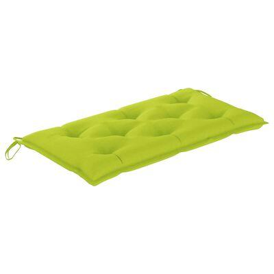 vidaXL Bänkdyna för trädgården grön 100x50x7 cm tyg, Brightgreen