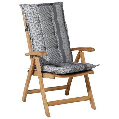 Madison Stolsdyna med hög rygg Pasa 123x50 cm grå