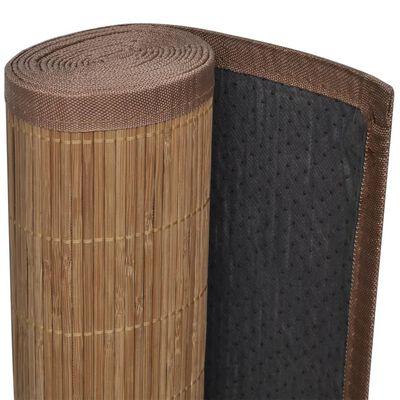 vidaXL Bambumatta 100x160 cm brun