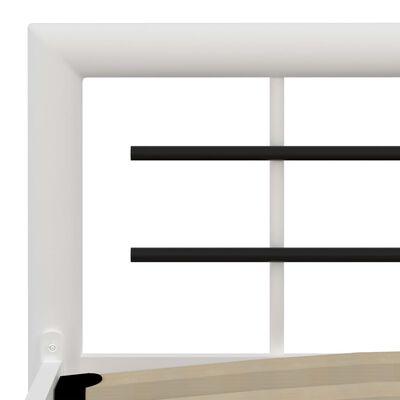 vidaXL Sängram vit och svart metall 140x200 cm