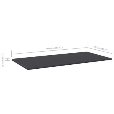 vidaXL Hyllplan 4 st grå 100x50x1,5 cm spånskiva