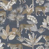 DUTCH WALLCOVERINGS Tapet leopard svart och beige