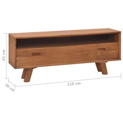 vidaXL TV-bänk 110x30x45 cm massiv teak