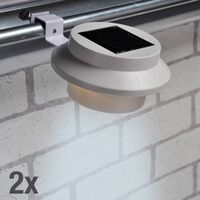 HI Soldriven LED-lampa för hängränna 2 st vit