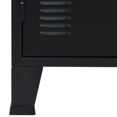 vidaXL Skänk industriell stil metall 120x35x70 cm svart