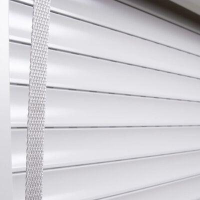 vidaXL Rulljalusi aluminium 100x130 cm vit