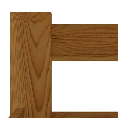 vidaXL Sängram honungsbrun massiv furu 120x200 cm