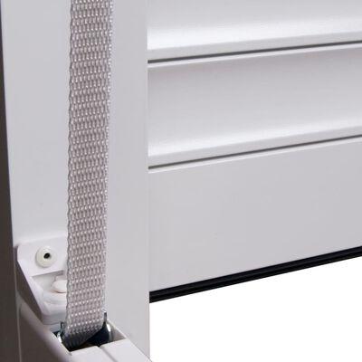vidaXL Rulljalusi aluminium 100x100 cm vit