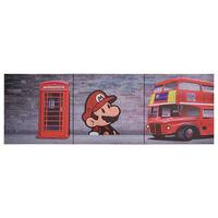 vidaXL Canvastavla London flerfärgad 120x40 cm