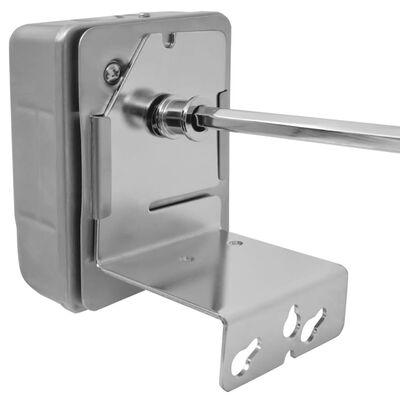 vidaXL Grillspett med motor stål 1000 mm