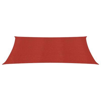 vidaXL Solsegel 160 g/m² röd 3,5x5 m HDPE