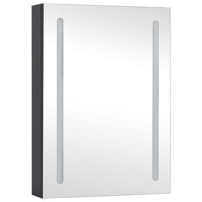 vidaXL Spegelskåp med LED 50x13x70 cm