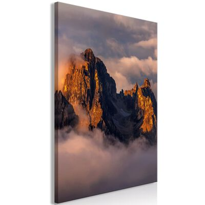 Tavla - Mountains In The Clouds (1 Part) Vertical - 40x60 Cm